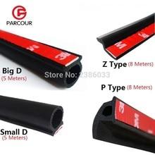 5 mbig D+ 5 msmall D+ 8mZ Тип+ 8mP Тип двери автомобиля этиленового пропилен-каучука прокладки Водонепроницаемый отделка шумоизоляция Звукоизоляционная лента аксессуары для автомобиля Стиль