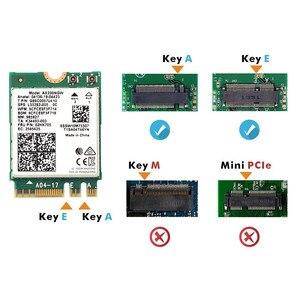 Image 5 - Carte Wifi 6 double bande, 2400 mb/s, NGFF M.2, avec Bluetooth 5.0, 802.11ac/ax, ensemble dantennes Intel AX200NGW, sans fil