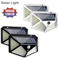 Lampada da parete a lanterna ad energia solare per esterni 100 LED sensore di movimento a luce solare impermeabile decorazione del giardino lampioni