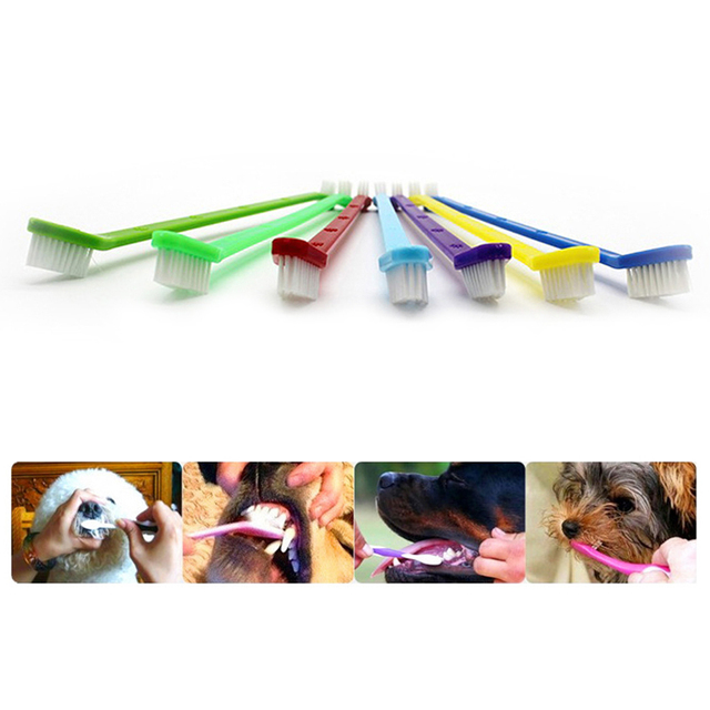 1pc Two Sided Dog Toothbrush Bad Breath Tartar Teeth Care For Cat Dog Tooth Clean Brush Soft Pet Finger Toothbrush pet Suppplies 6