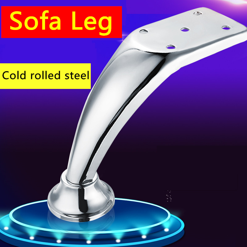 112mm Glossy Shiny Cold-rolled Steel Wardrobe Sofa Leg Cabinet Leg Feet Table Leg With Rubber Base Super Load-bearing