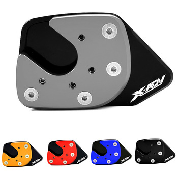 For HONDA XADV X-ADV 750 2017 2018 X ADV Motorcycle Accessories Kickstand Foot Side Stand Enlarger Support Plate Pad Extension 4 8mm motorcycle accessories for honda stands screws swin garm swingarm spools slider for honda x adv xadv x adv 750 2017 2018
