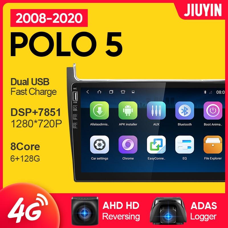 Автомагнитола JIUYIN 1 din android для vw Volkswagen POLO 5 2008-2020, мультимедийный видеоплеер, автомобильный навигатор GPS No 2din 2 din dvd