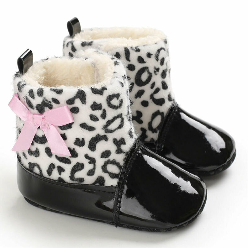 Newborn Baby Booties Boy Girl Shoes Crib Pram Shoes Winter Soft Snow Boots Prewalker