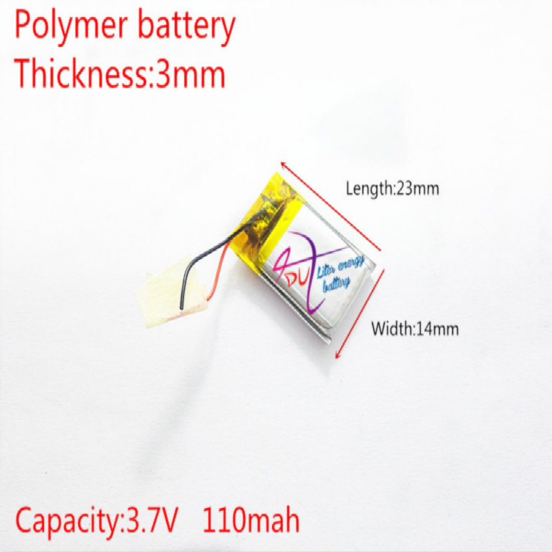 Liter energy battery 3.7V lithium Tablet polymer <font><b>301525</b></font> 110MAH Bluetooth headset steelmate genuine small toys image