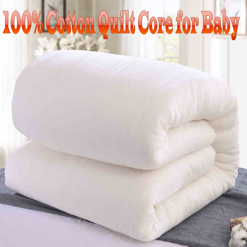 100% Cotton Children Quilt Summer Spring Autumn Winter 120x150cm Cotton Handmade Quilt Core For Boys Girls Baby Bed 0.6m 1.0m
