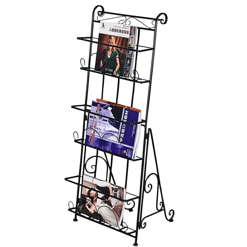Magazine,newspaper Rack, Book Rack, Data Rack, Landing Iron Art Creative Publicity Display Shelf, Three-dimensional Bookshelf
