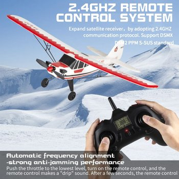 W01 2.4G 3CH Electric RC EPP Glider Airplane Six-axis Gyroscope RTF Right Hand Throttle With Transmitter Gifts For Beginners 4