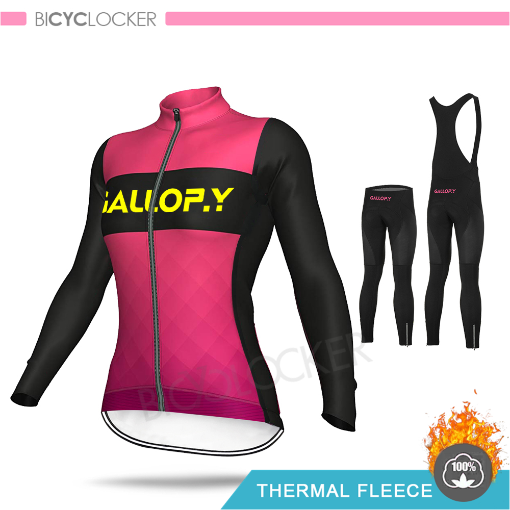 2020 NEW Winter jacket Women Cycling Clothing Long Sleeve Jersey Set Lady Clothes Thermal Fleece MTB Female Bicycle Warm Clothes