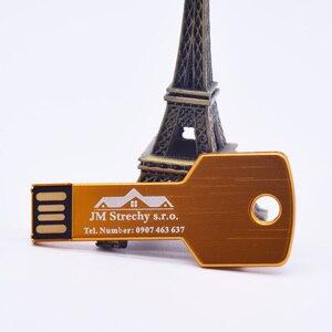 Image 3 - Prawdziwa pojemność metalowy klucz pamięć USB Pendrive 32GB 128MB 1GB 4GB 64GB Pendrive urządzenie pamięci masowej prezenty (ponad 10 sztuk logo za darmo)
