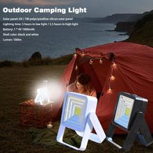 USB LED Solar Light Portable Hand-held Emergency Light Super Bright Camping Tent Lamp Waterproof Garden Garage Light 2 Mode