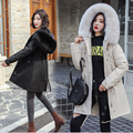 New style winter female slim down puffer jacket fashion long casual pure color cotton black green autumn warm yellow thick coats