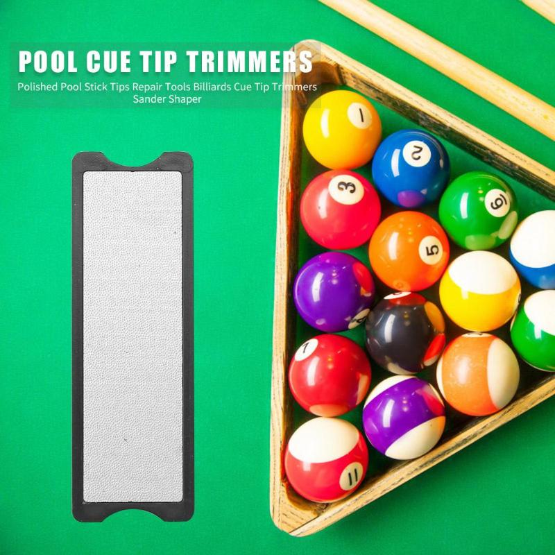 3 in 1 Billiards Stick Tips File Portable Cue Tip Excellent Steel Rough and Fine Grinding Double-<font><b>sided</b></font> <font><b>Sander</b></font> Pool Tools image