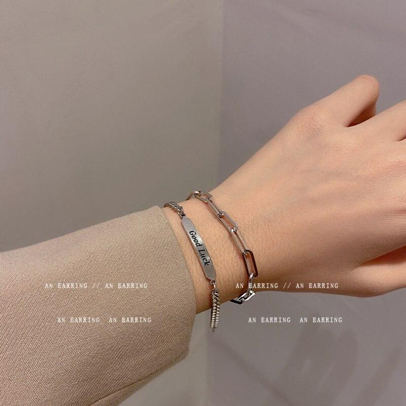 Модный персонализированный двухслойный браслет с буквами для женщин, дизайнерские браслеты-Цепочки, Ретро ювелирные изделия, аксессуары о...