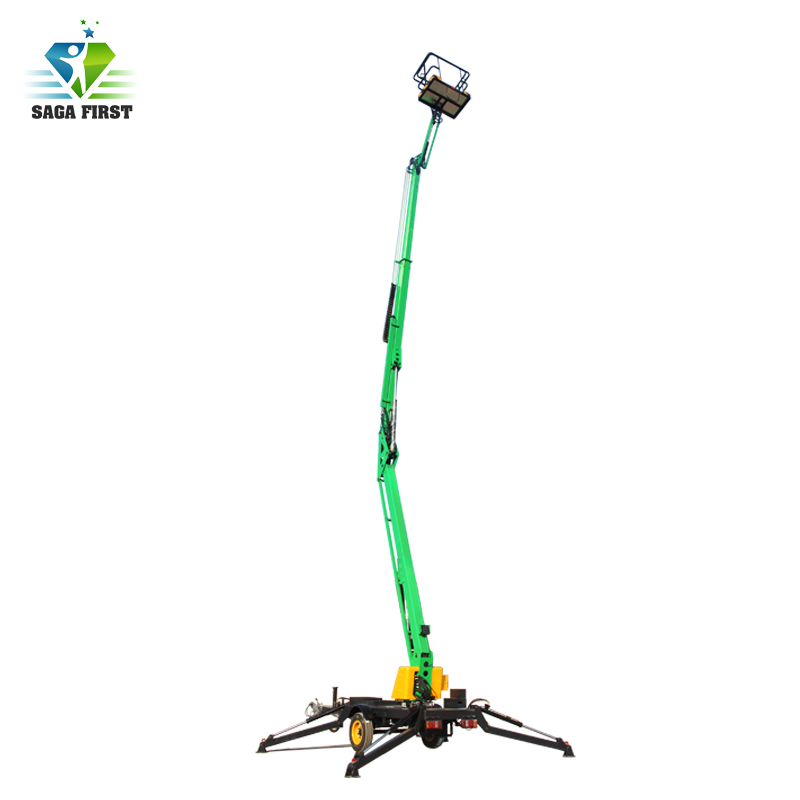 2018 Car Driving Vehicle Mounted Articulating Boom Lift/sky Lift/arm Lift For Cherry Picker