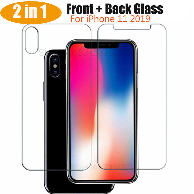 2 in 1 Front+Back Tempered Glass Glass For iPhone 11 Pro Max XS MAX XR XS X 8 7 6 6S Plus 5S 5 SE 5C 11Pro Glass Protective Film