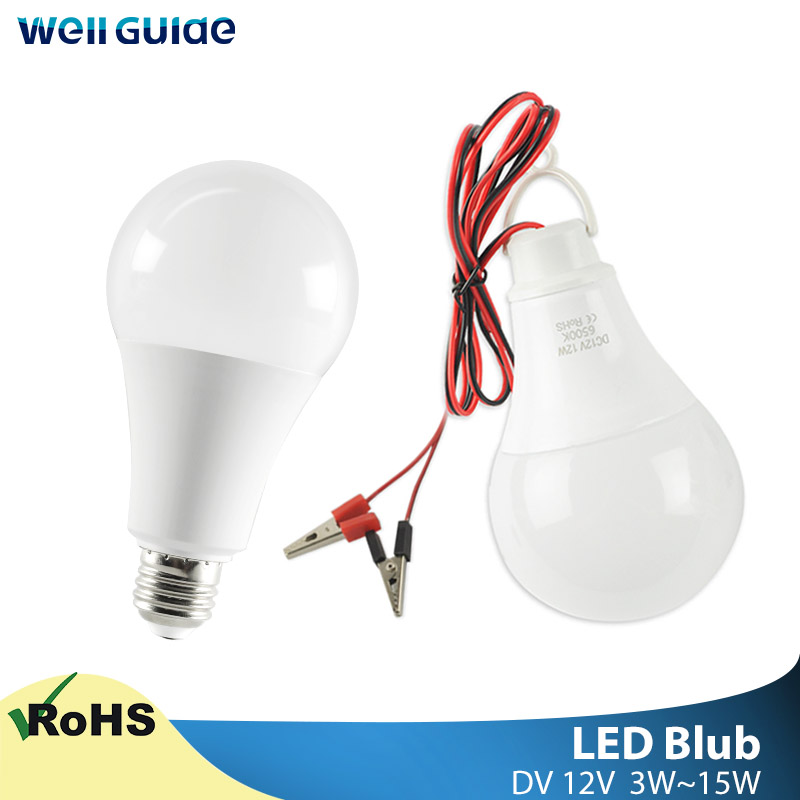 Led Bulb Hang Light High Bright With Clip E27 3W 5W 7W 9W 12W AC 220V 240V Aluminum Cooling Lampara Bombilla Ampoule Bulb Light