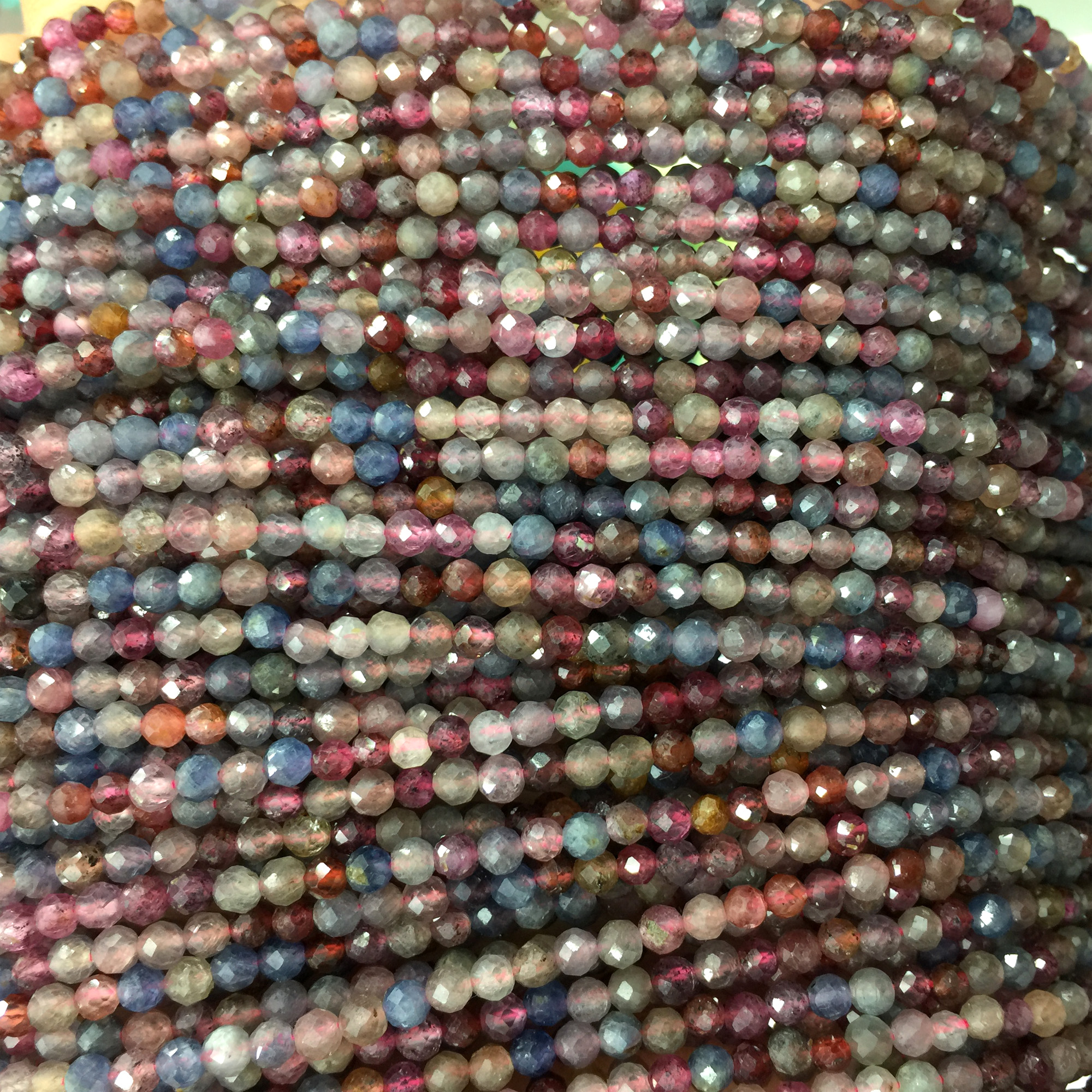 """New 4mm Natural Emerald Faceted Loose Beads Gemstone 15/""""AAA"""