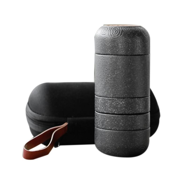 Portable Ceramic Kung Fu Tea Set for Travel Household Cup Set|Teaware Sets| |  - title=