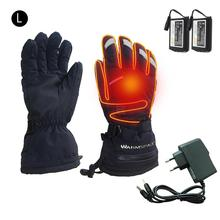 Waterproof Ski Gloves With Touchscreen Function Electric Rechargeable Lithium Battery Powered Snowboard Heated Warm Snow Gloves