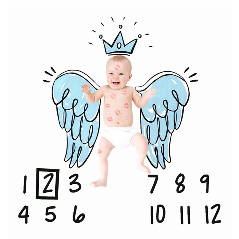 Реквизит для фотосъемки новорожденных младенцев месяцев фоновые пеленки одеяла тканевый фон с календарем аксессуары для маленьких мальчи...