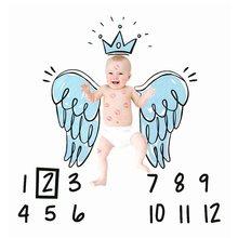 Bebê infantil meses marco foto adereços fundo fralda cobertores pano pano pano de fundo folha calendário bebe menino menina acessórios