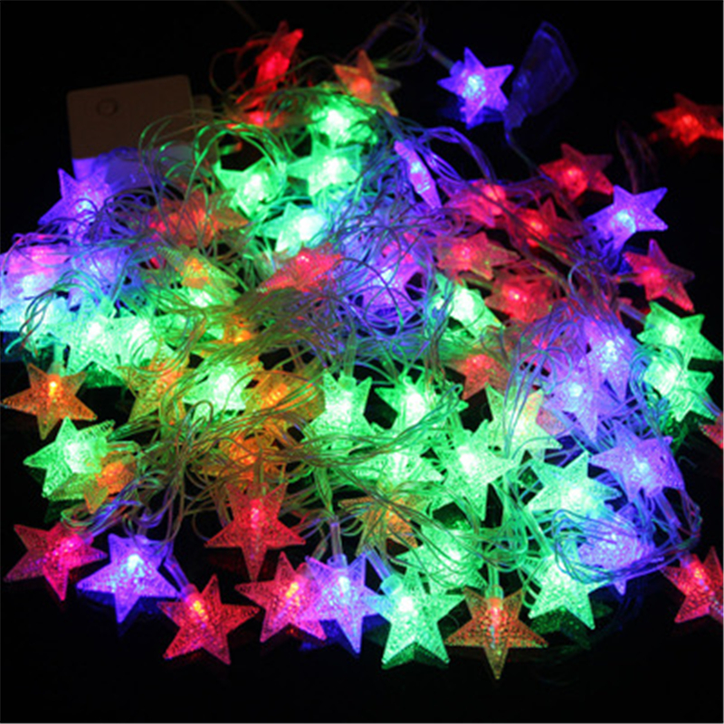 LED Tring Waterproof Outdoor  10M 20M 30M 50M LED Fairy String Lights Christmas Party Wedding Holiday Decoration Garland Light