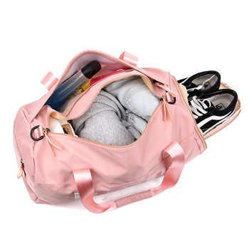 2020 Sequins Black Gym Bag Women Shoe Compartment Waterproof Sport Bags for Fitness Training Yoga sac de sport
