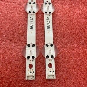 Image 5 - 8set = 32 pièces LED bande de Rétro Éclairage Pour LG 49UV340C 49UJ6525 49UJ6585 49UJ6565 49UJ651V 49UJ670V 49UJ701V V17 49 R1 L1