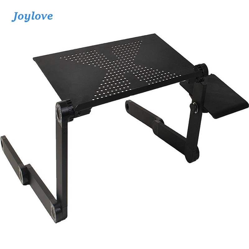 JOYLOVE Computer Desks Portable Adjustable Foldable Laptop Notebook Lap PC Folding Desk Table Vented Stand Bed Tray