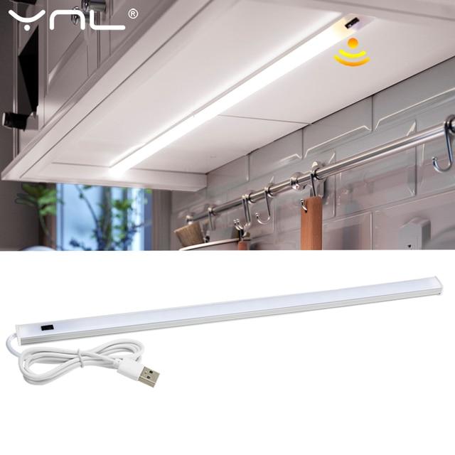 5V USB LED Under Cabinet Kitchen Lights 3 Colors 30/40/50cm Hand Sweep Sensor Lamp High Brightness Bedroom Wardrobe Lighting