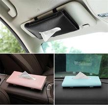 Auto sonnenblende leder tissue box Tissue Box Handtuch Sets Halter Auto Innen Lagerung Dekoration Auto Zubehör