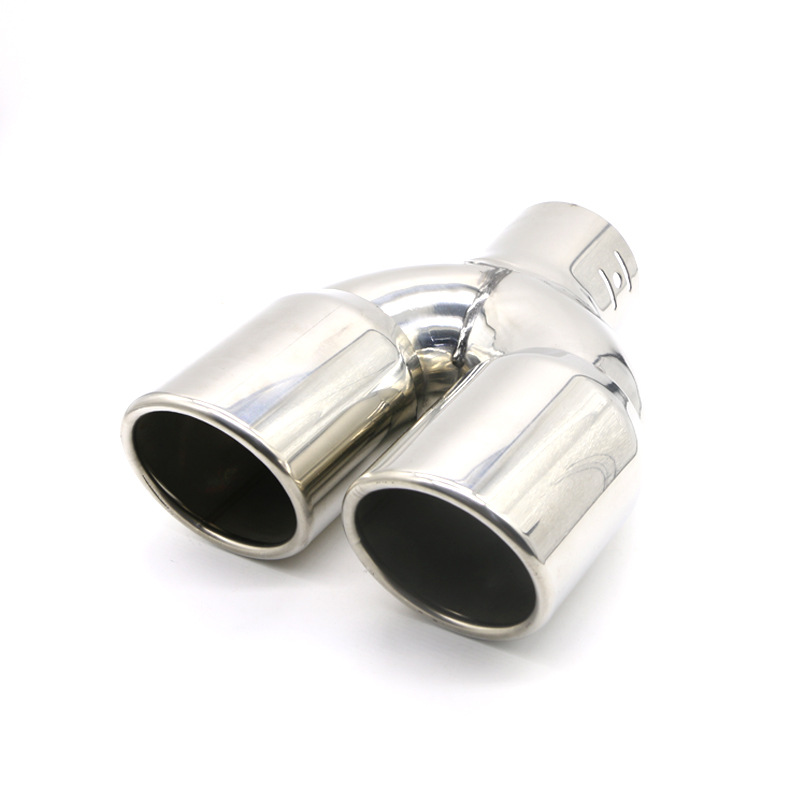 Car Truck Exhaust Tip Tail Pipe Stainless Steel Straight Muffler Universal  B