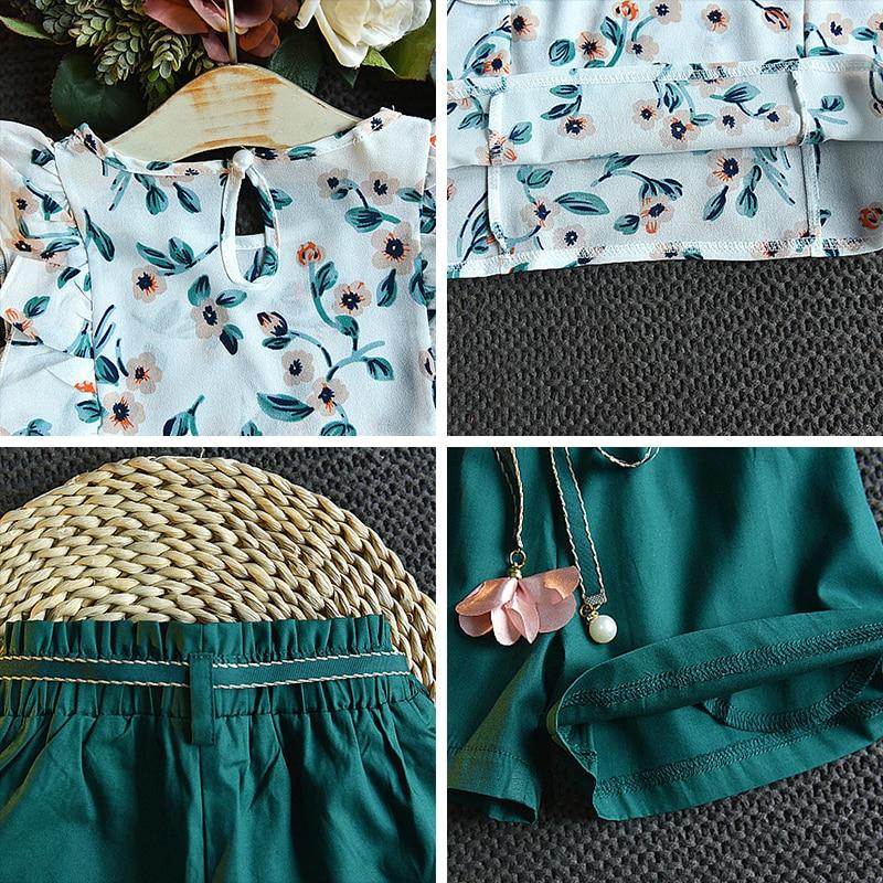 Hdbab2138e5f9417b9d12dc79f2eedaa6b Menoea Girls Suits 2020 Summer Style Kids Beautiful Floral Flower Sleeve Children O-neck Clothing Shorts Suit 2Pcs Clothes