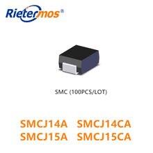 100 PCS SNCJ14 SMCJ14A SMCJ14CA SMCJ15 SMCJ15A SMCJ15CA SMCJ16 SMCJ16A SMCJ16CA SMCJ17 SMCJ17A SMCJ17CA SMC