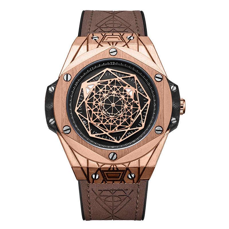 Adam izle 2019 quartz saat ajur Retro tasarım deri kayışlı saatler erkekler üst marka kol saatleri hediyeler erkekler için Relógio