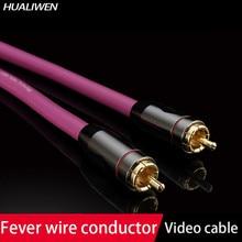 Alta fidelidade áudio 4n cobre rca interconectar cabo de áudio fio com pailicce banhado a ouro plugues rca ao cabo de extensão rca