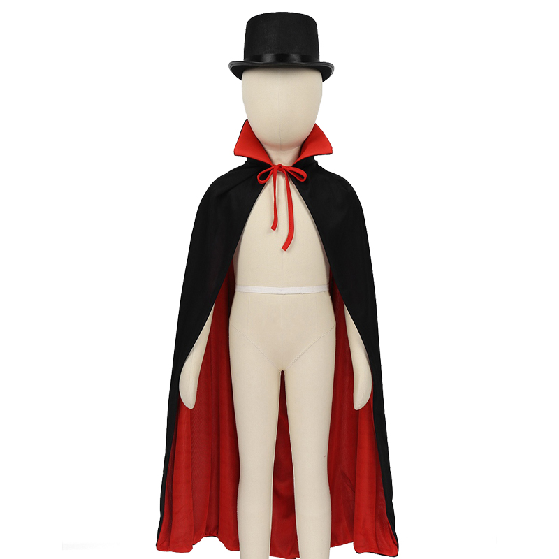 Kids Boys Magician Role Play Cosplay Costumes Outfit Cape Hat Magic Wand Gloves Set Children's Halloween Festivities Magic Cape 5