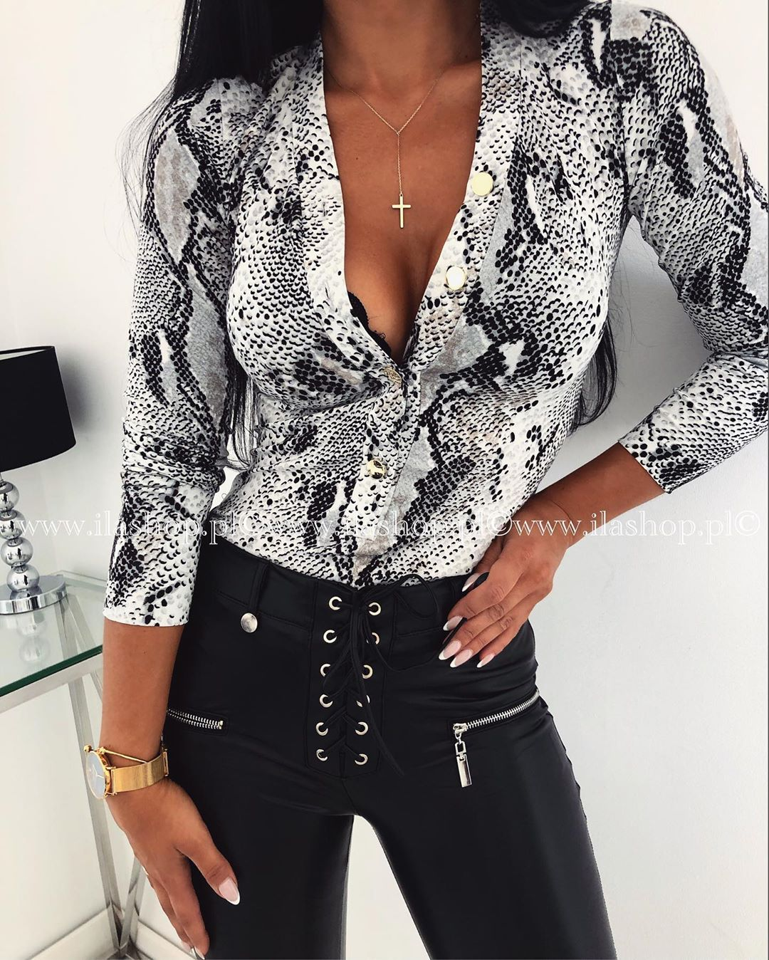 Sexy Deep V Neck Leopard Ladies Bodysuits Long Sleeve Blouse Body Women Satin Romper Animal Print Body Overalls For Women
