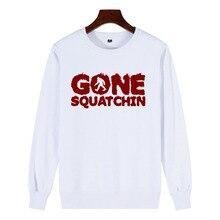 Streetwear Aesthetic Sweatshirt New 100% Cotton Novelty Casual Women Print Bigfoot GONE SQUATCHIN Sasquatch Champion