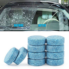 50pc Car Windshield Wiper Glass Washer Auto Solid Cleaner Compact Effervescent Tablets Window Repair Car Cleaning Detailing Tool