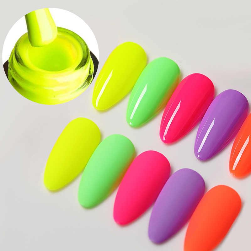 Venalisa Neon Gel Polandia Pernis Hybrid Kuku Manicure 7.5ML Semi Permanen Rendam Off Enamel Gel UV Gel cat Kuku