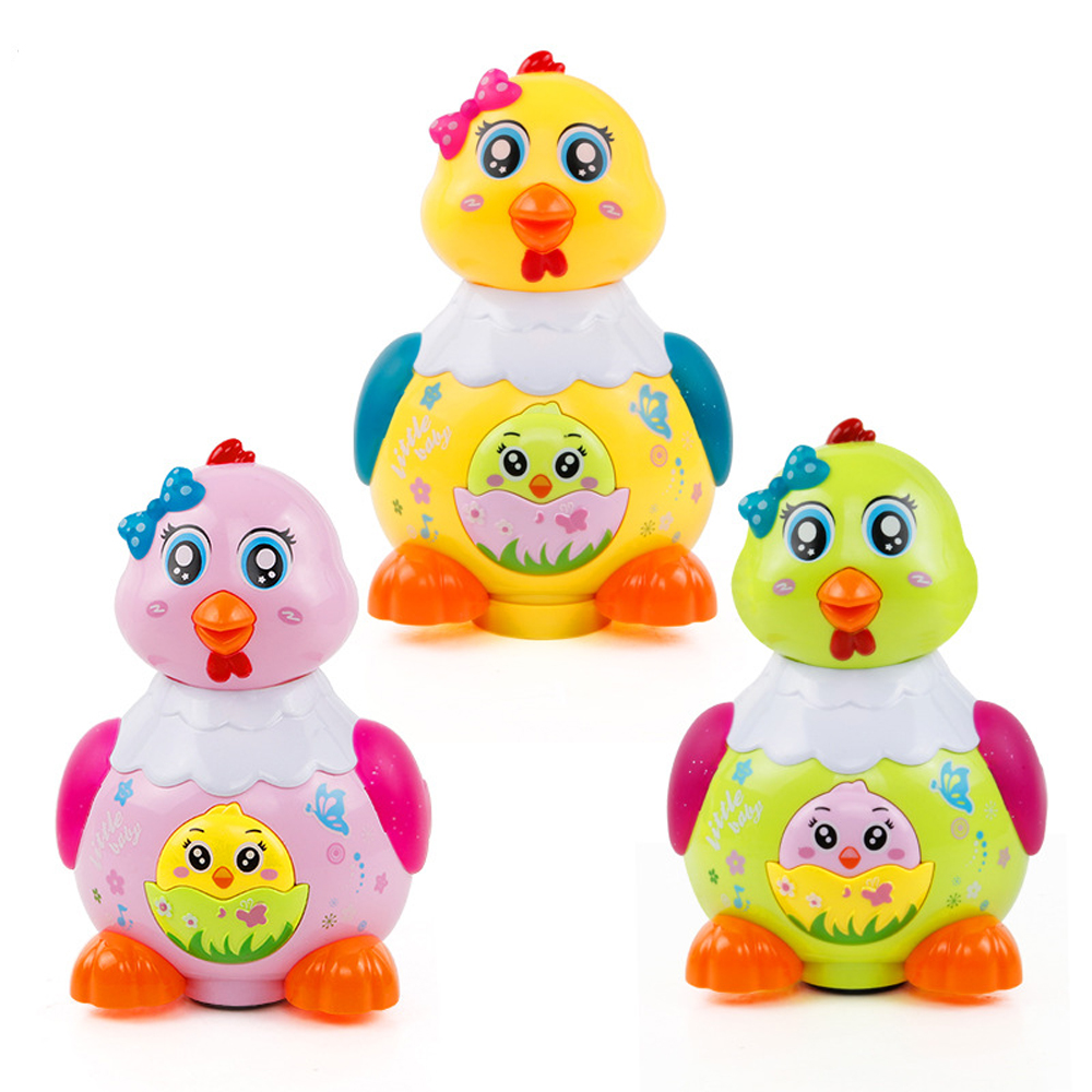 Kids Funny Chicken Toys Animal Hens Lay Eggs Singing Dancing Electric Chicken Pet Toys For Children Gift Baby Toys Gift Random