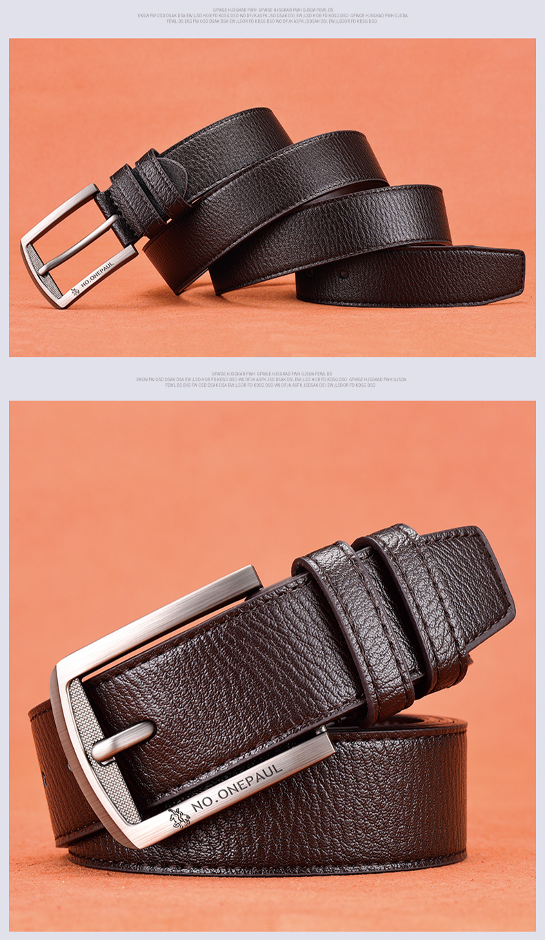 Hdbabe652d5e24035b368aa3575dff2370 - NO.ONEPAUL cow genuine leather luxury strap male belts for men new fashion classice vintage pin buckle men belt High Quality
