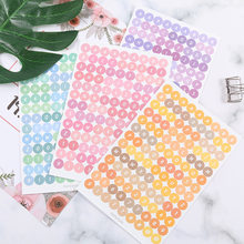Coreano 4pcs Numero Adesivo Digitale Lettera Alfabeto Sveglio Planner Notebook Journaling Stickers Scrapbooking Decorativo Della Cancelleria