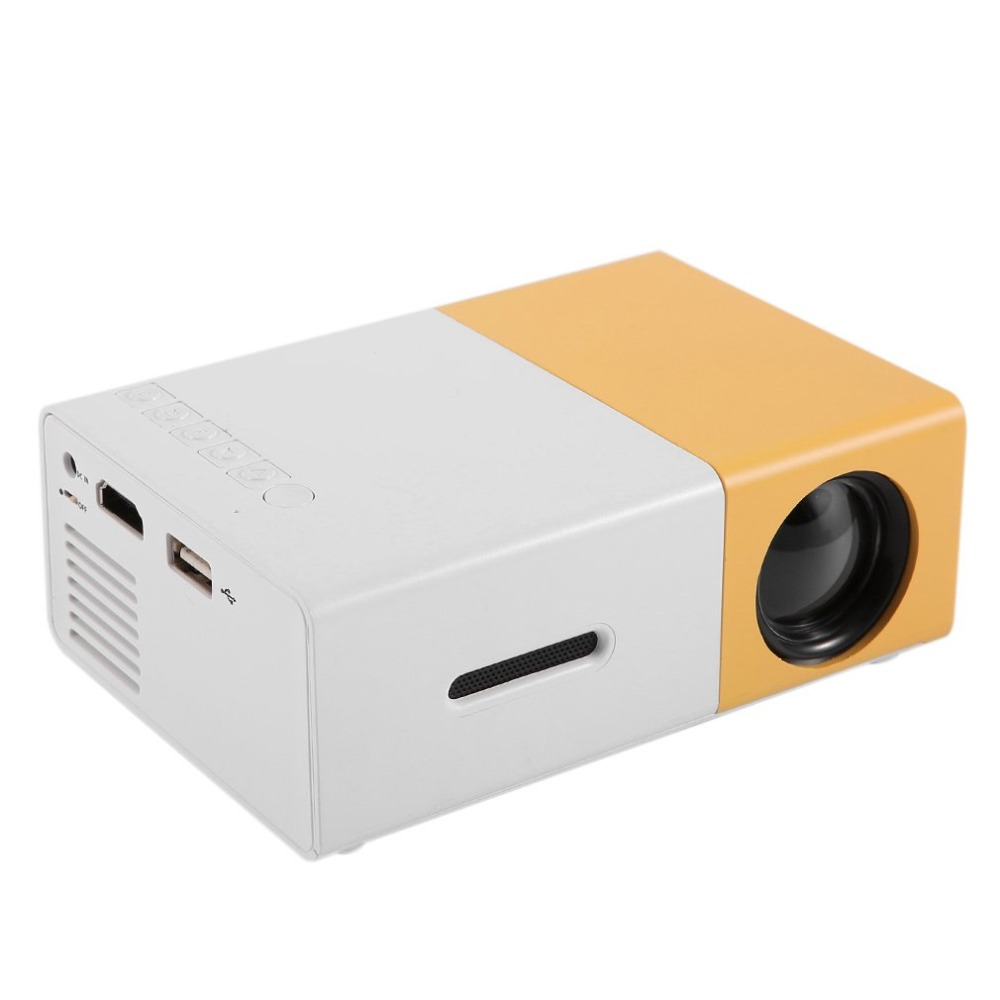 YG300 Mini Portable Projector LCD <font><b>LED</b></font> Proyector HDMI USB AV SD 400-600 Lumen Home Theater Children Education Beamer HD Projetor image