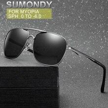 SUMONDY Dioptre 0 to -6.0 Myopia Sunglasses Men Women UV400