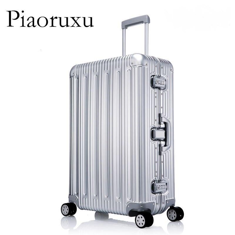 100% wszystkie ze stopu Aluminium ze stopu Aluminium bagaż Hardside Rolling wózek na bagaż walizka podróżna 20 bagaż na bagaż 25 29 bagaż rejestrowany w Bagaż podróżny od Bagaże i torby na  Grupa 3