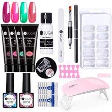 UR SUGAR – Kit d'extension pour ongles, 15ml, vernis Gel UV acrylique, paillettes, couleur claire, création rapide, lien VIP