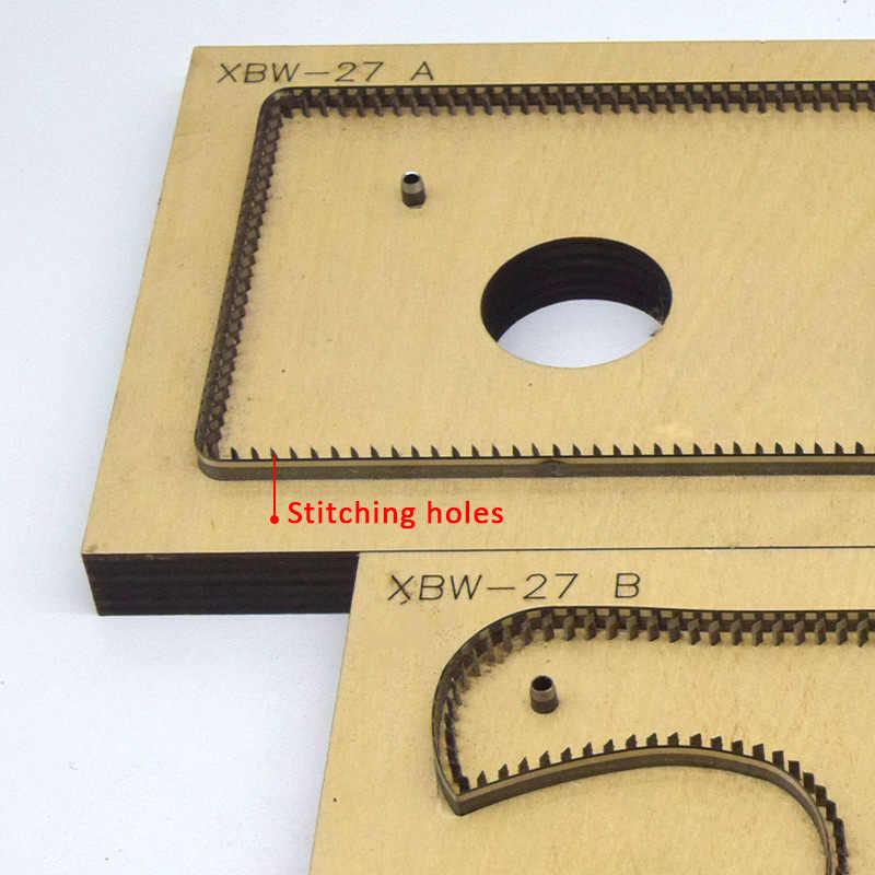 DIY עור רוכסן ידית מפתח תג רוכסן תג ארנק משיכה טבעת תיק למשוך טבעת מתאים למות חיתוך מכונה
